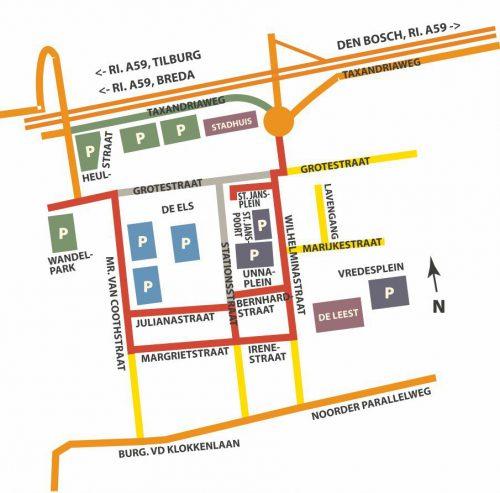 Parkeer mogelijkheden Centrum Waalwijk