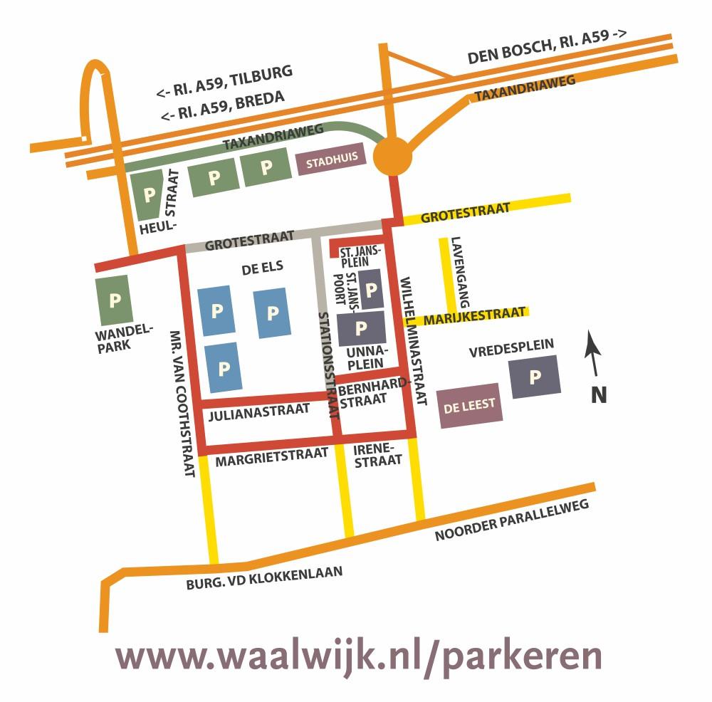 Parkeermogelijkheden rond Winkelcentrum De Els, Waalwijk