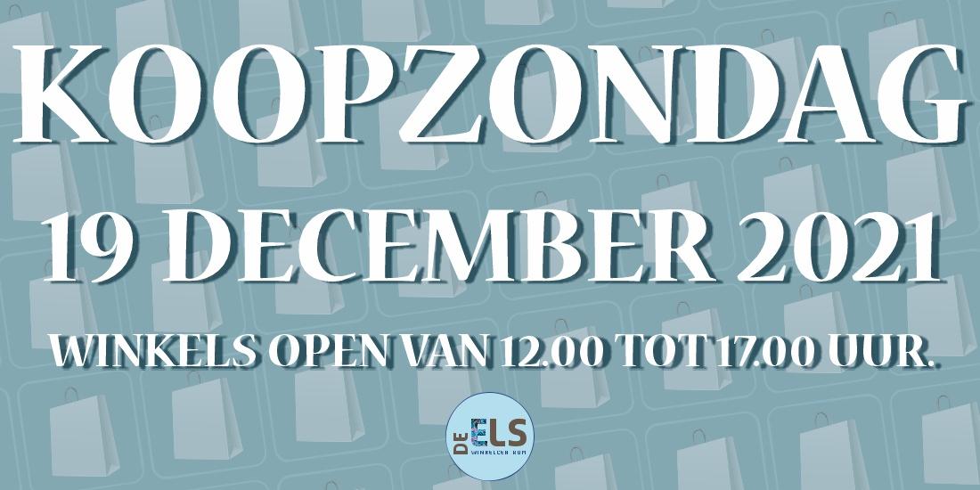 Koopzondag - 19 December
